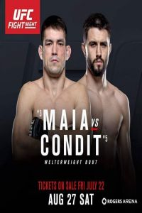 Nonton Film UFC Fight Night On Fox 21 Maia vs Condit 27th August 2016 Subtitle Indonesia Streaming Movie Download